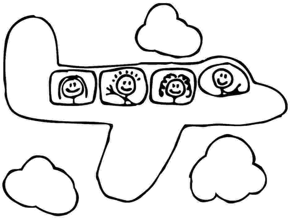 cartoon airplane printable coloring pages transportation air plane for airplane cartoon