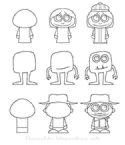 cartoon characters to sketch free how to draw a cartoon person download free clip art cartoon sketch characters to