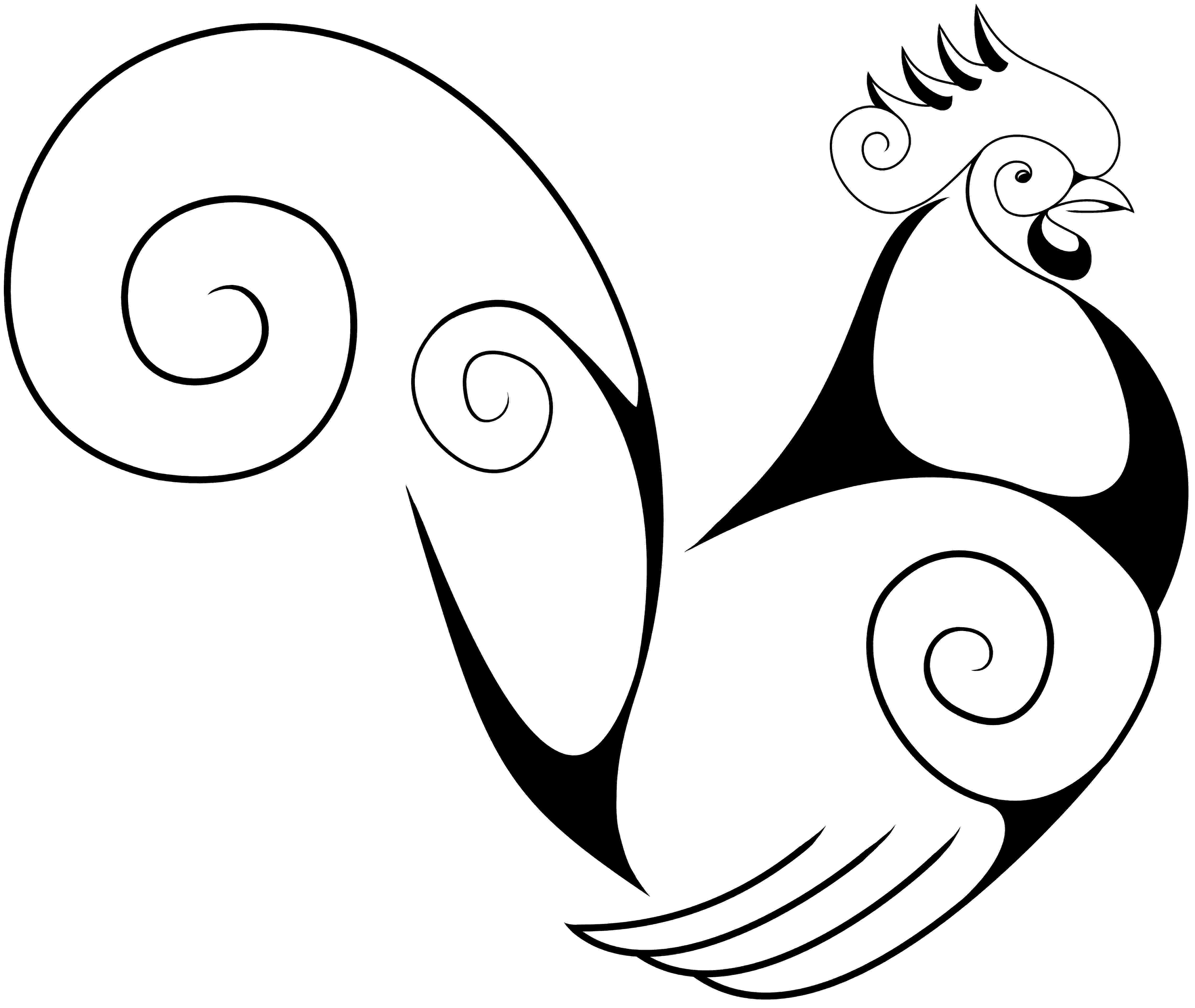 cartoon rooster cartoon clipart of a black and white chubby rooster rooster cartoon