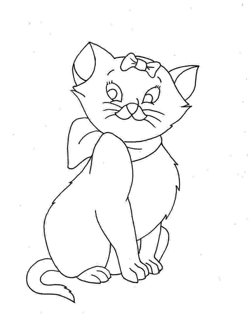 cat color pages navishta sketch sweet cute angle cats pages color cat