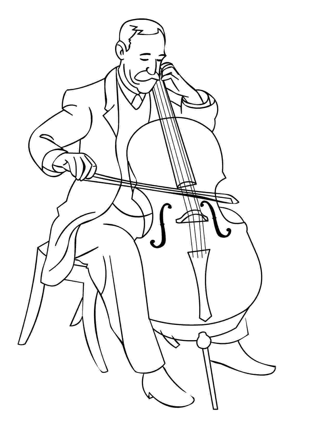 cello coloring page cello coloring pages kidsuki page cello coloring