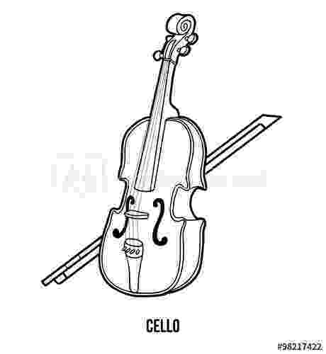 cello coloring page cello coloring pages kidsuki page coloring cello