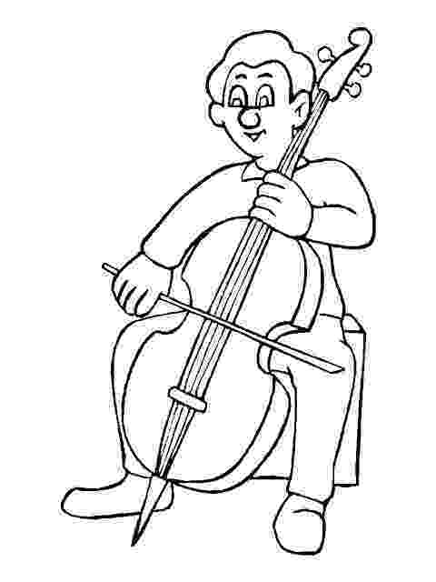 cello coloring page cello drawing outline at getdrawingscom free for cello page coloring