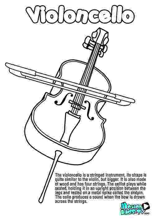 cello coloring page cello drawing outline at getdrawingscom free for page coloring cello