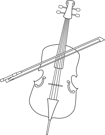 cello coloring page little boy with cello coloring page coloringcrewcom coloring cello page
