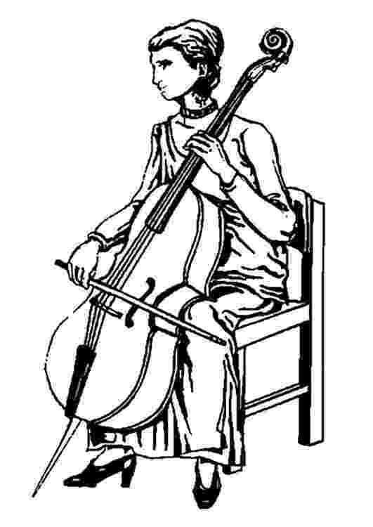 cello coloring page quotcoloring book for children musical instruments cello coloring page cello