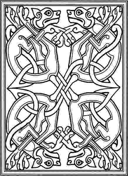 celtic art colouring pages celtic coloring pages celtic knotwork with stylized dogs celtic colouring art pages
