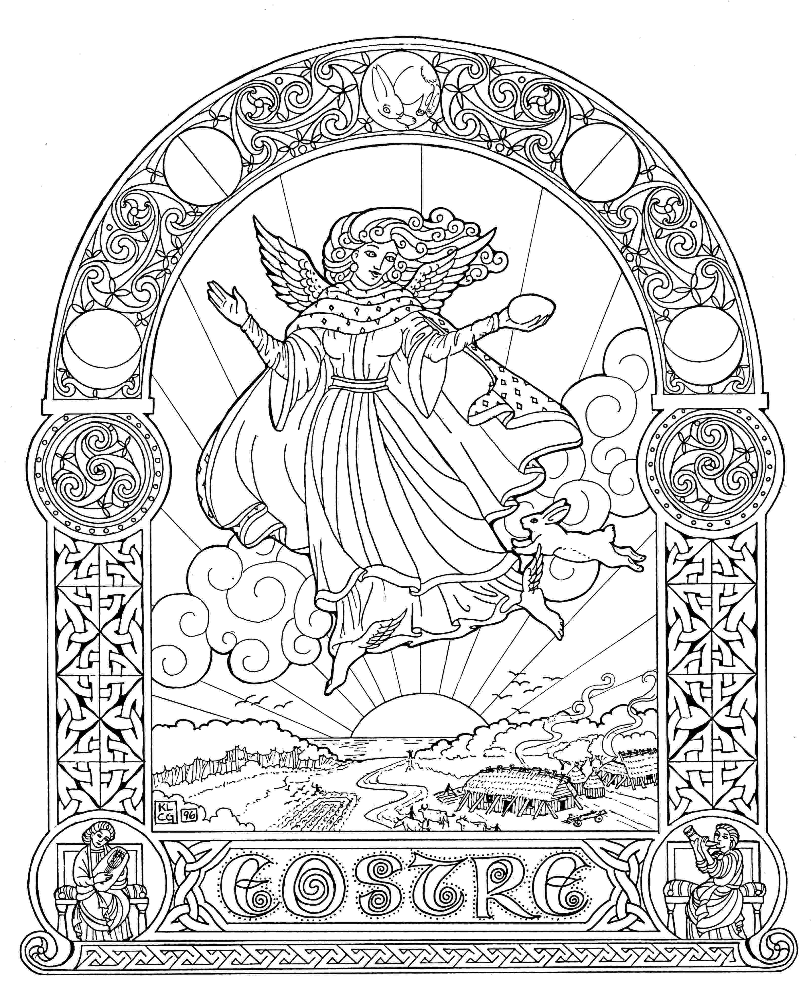 celtic art colouring pages embellishing and colouring celtic design karen gillmore art pages art celtic colouring