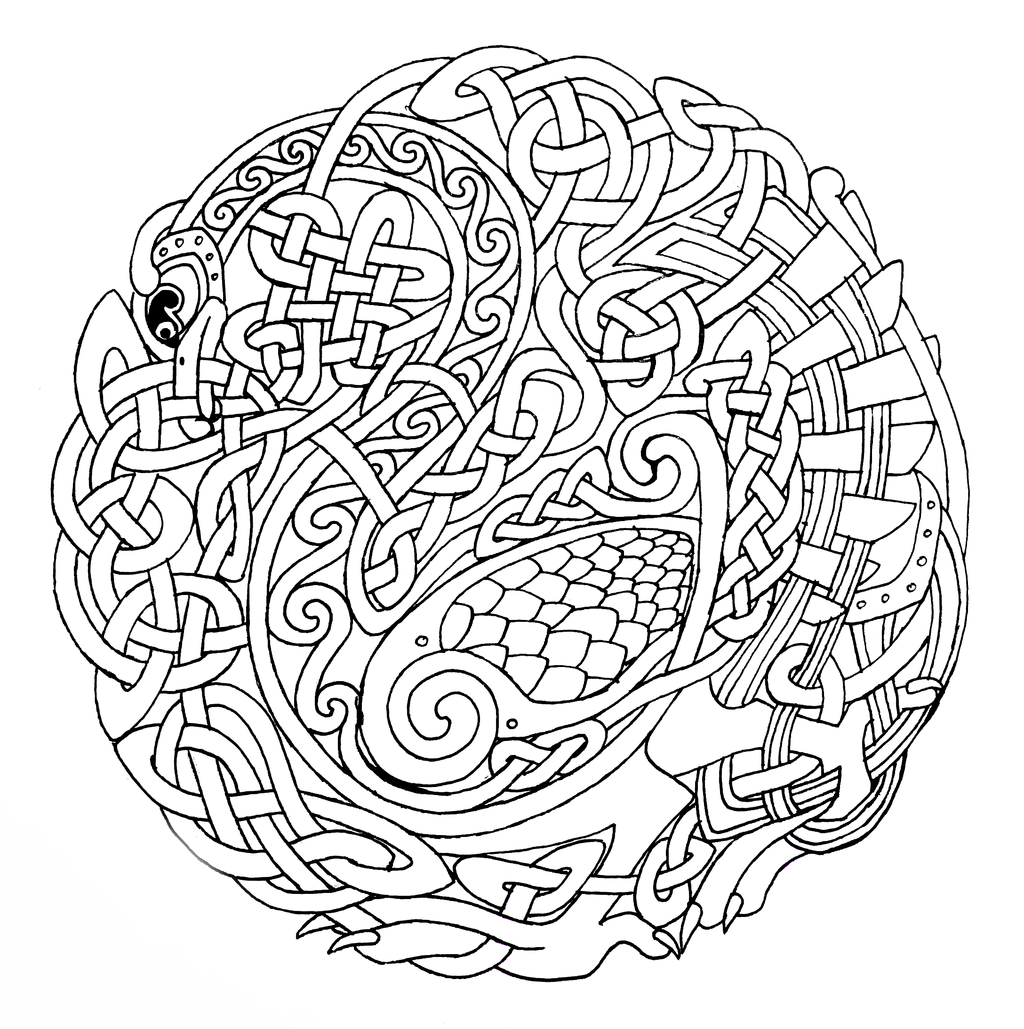 celtic art colouring pages source httpswww flickr art colouring pages celtic