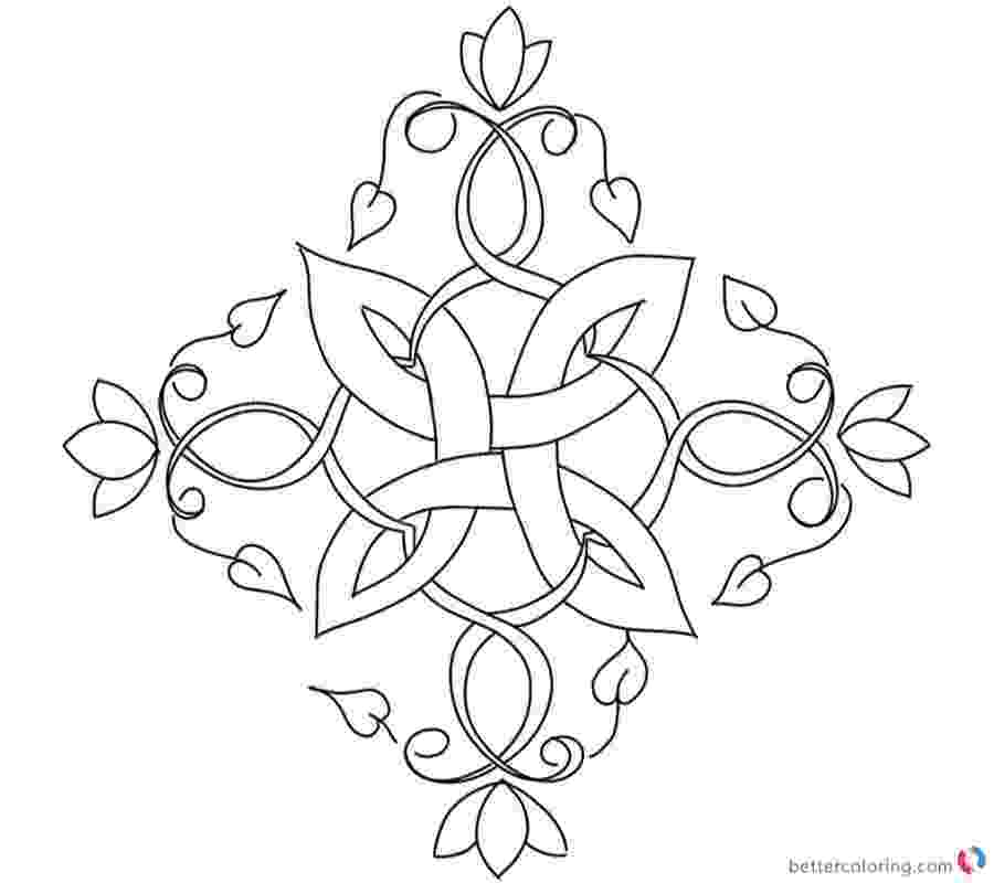 celtic flowers coloring book celtic mandala with flower coloring page free printable coloring celtic flowers book