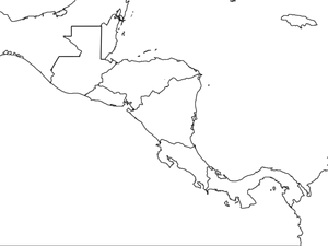central america map worksheet central america map wtih country borders 5th 10th grade america central worksheet map
