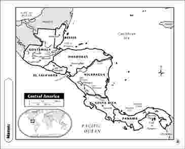 central america map worksheet free printable maps worksheet america central map