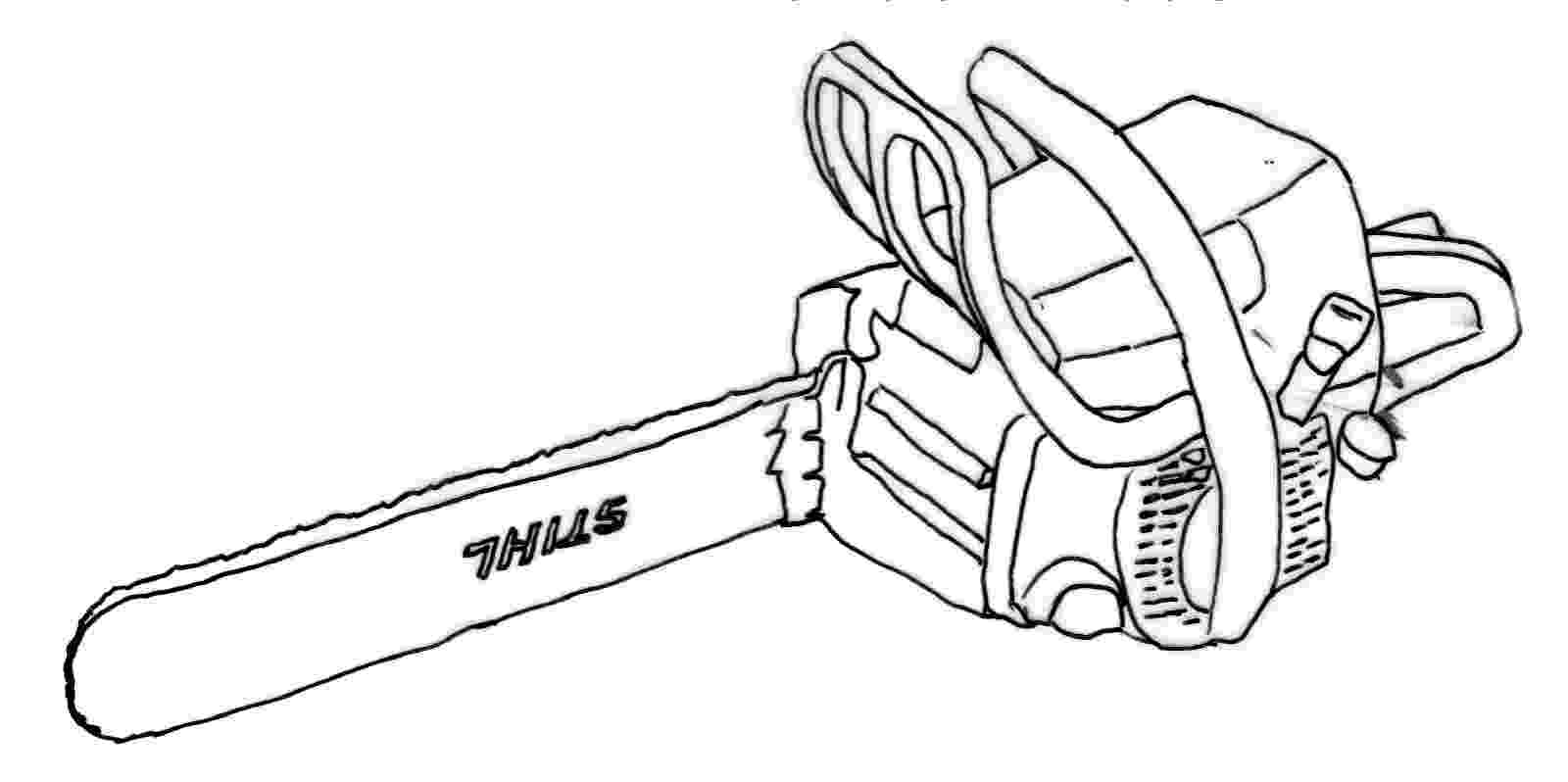 chainsaw coloring pages chain saw clip art cliparts pages coloring chainsaw