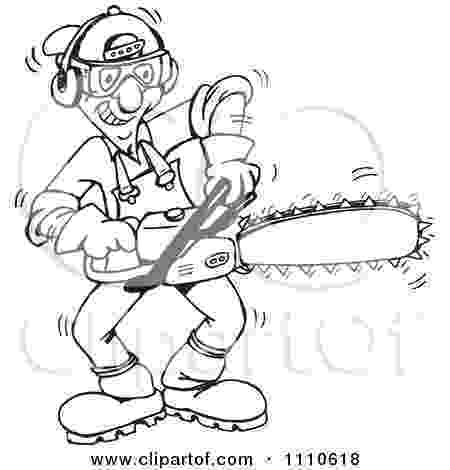 chainsaw coloring pages clipart illustration of a mad man holding two red pages coloring chainsaw