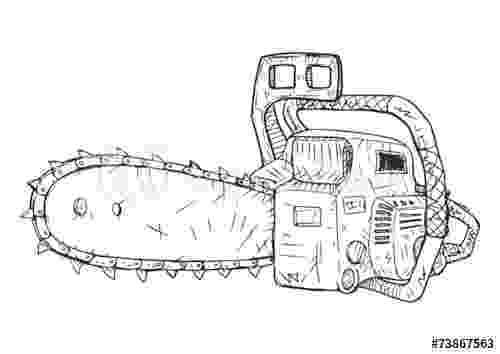 chainsaw coloring pages quotchainsaw vector sketchquot stock image and royalty free pages coloring chainsaw