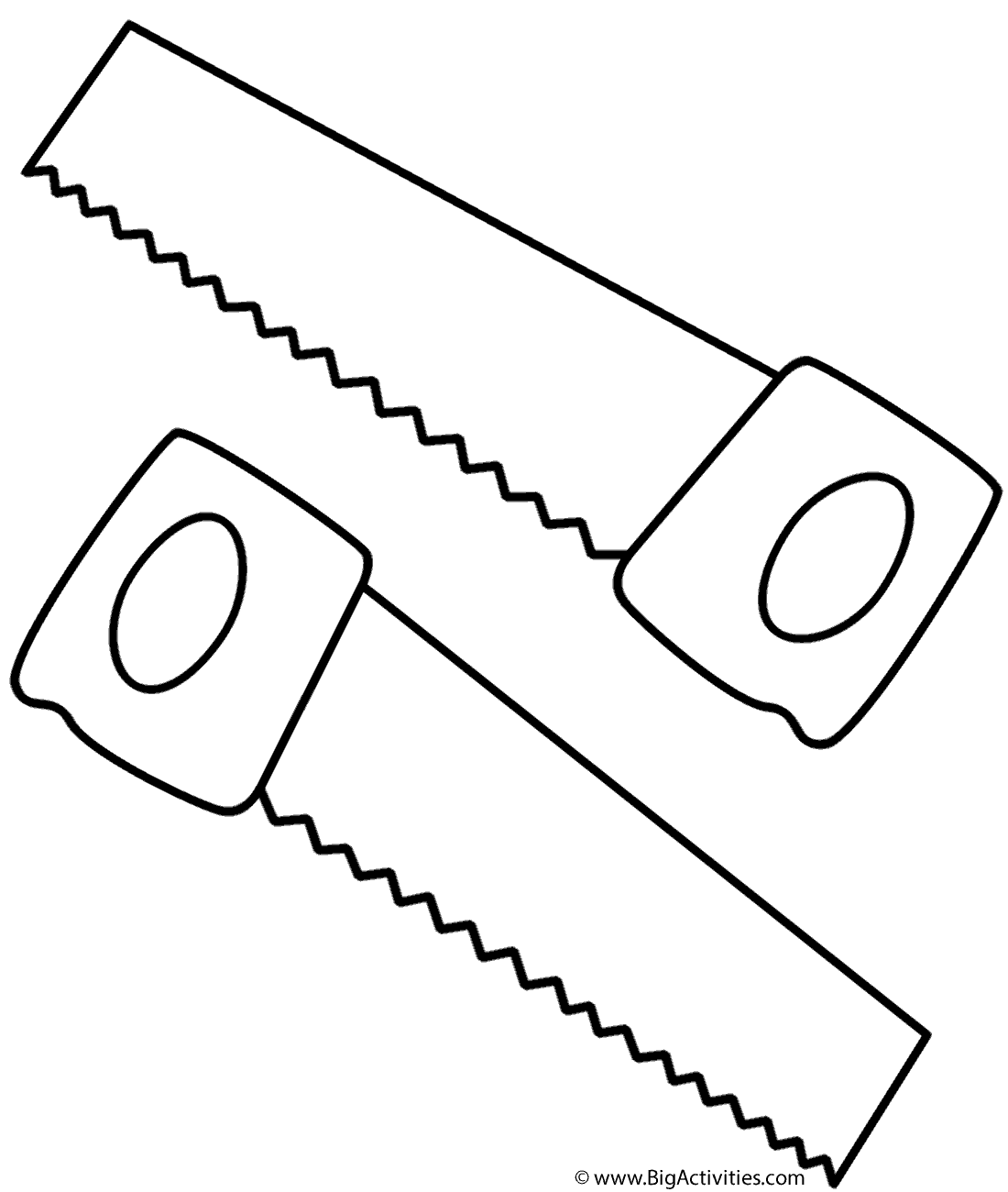 chainsaw coloring pages saws coloring page tools coloring pages chainsaw