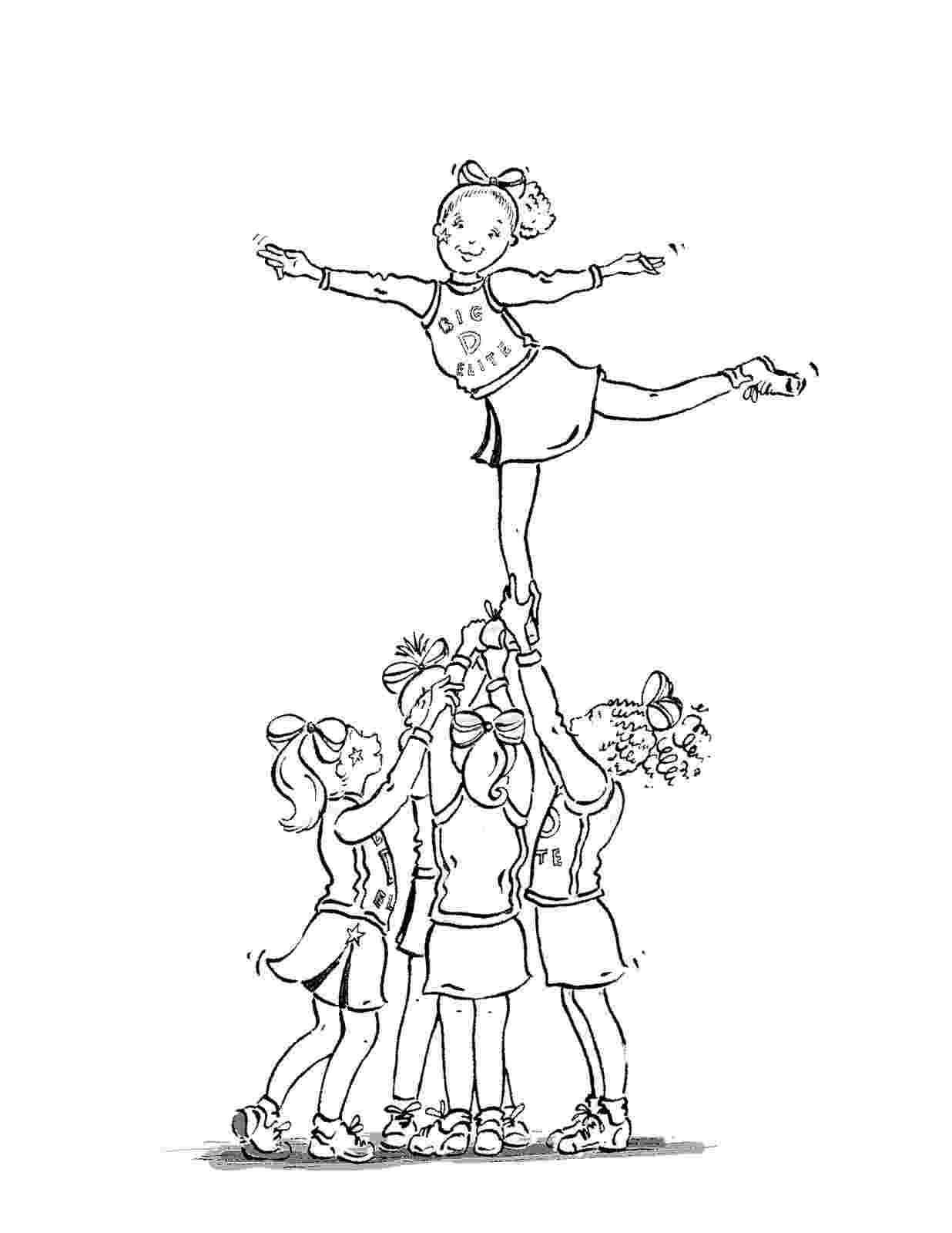 cheer coloring pages printable cheerleading coloring pages for kids cool2bkids coloring cheer pages