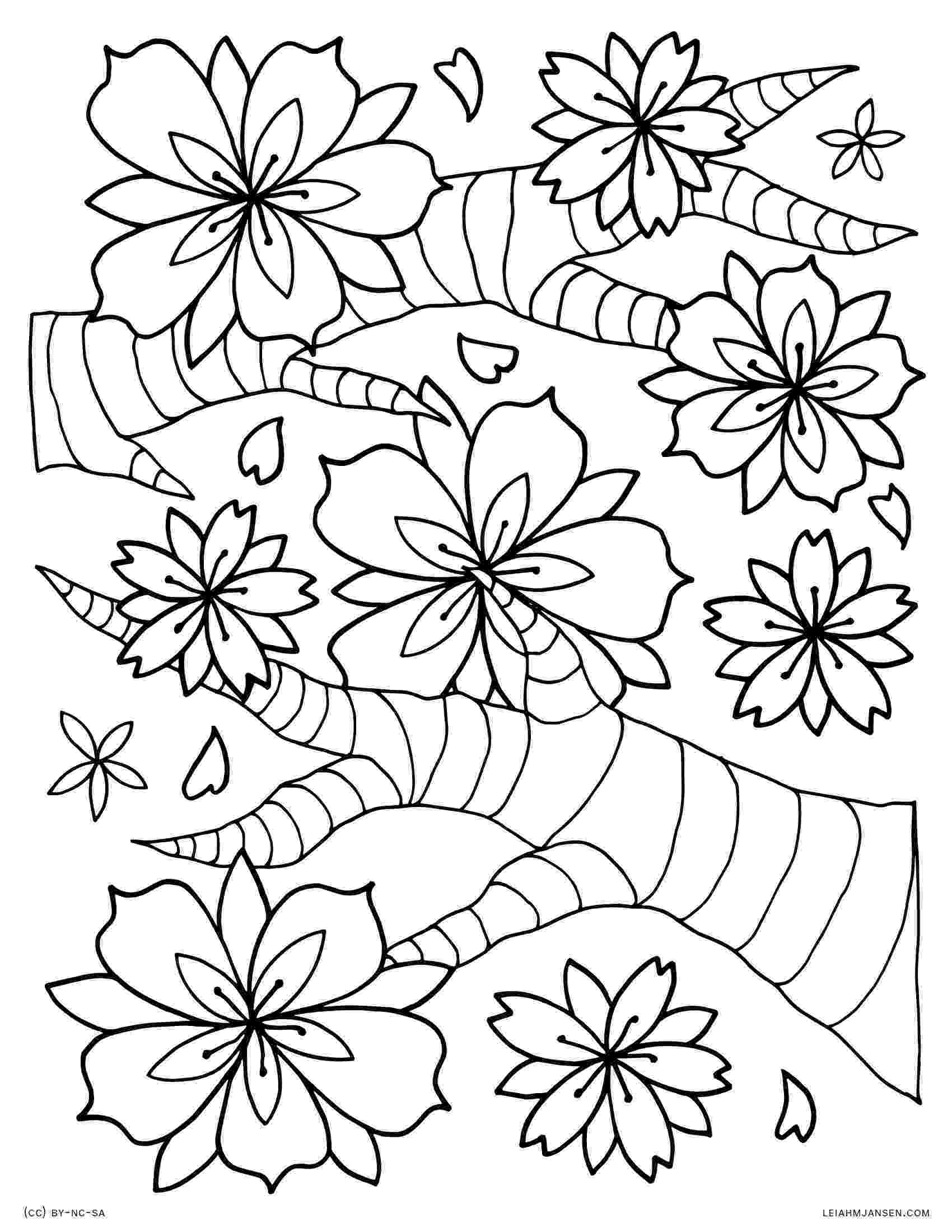 cherry blossom coloring pages coloring pages pages blossom coloring cherry
