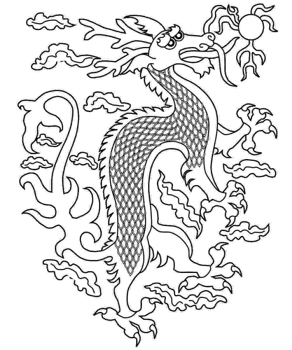 chinese dragon color sheets free printable chinese dragon coloring pages for kids sheets chinese dragon color