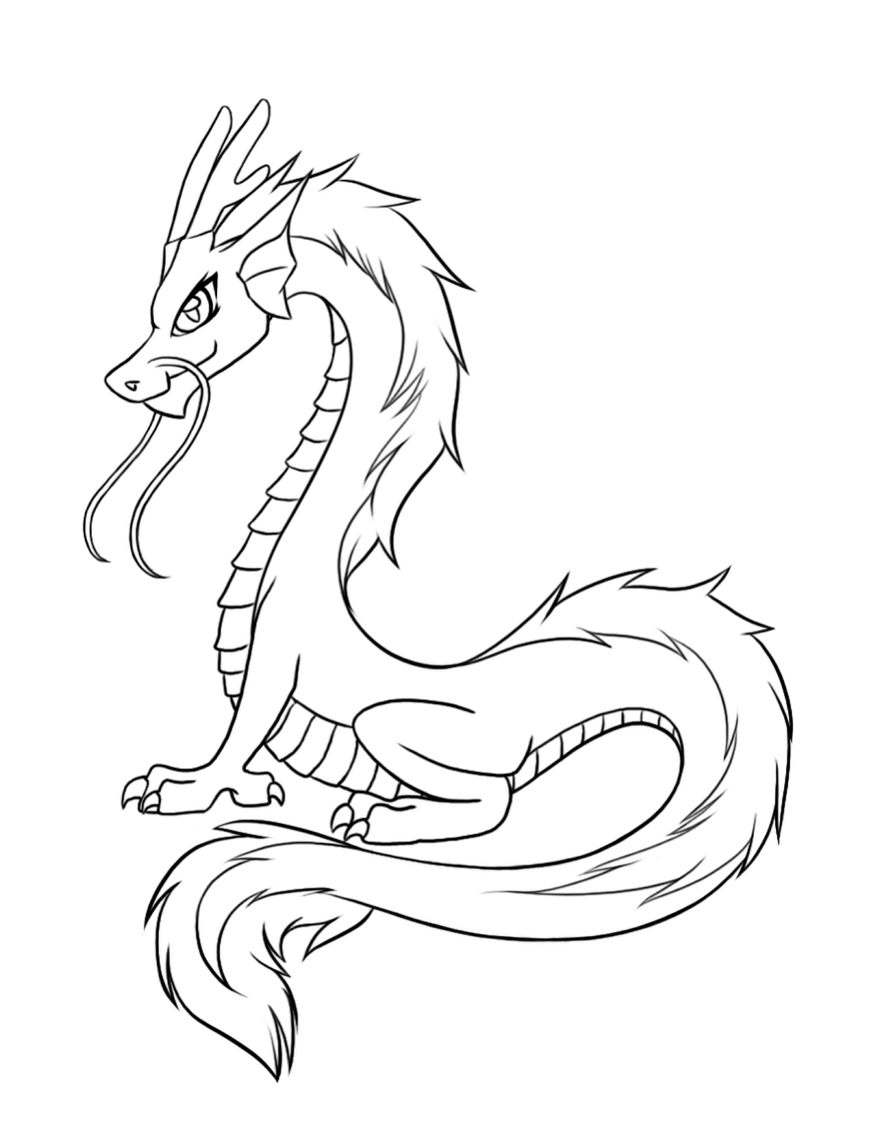 chinese dragon coloring pages simple chinese dragon outline clipart best pages chinese dragon coloring