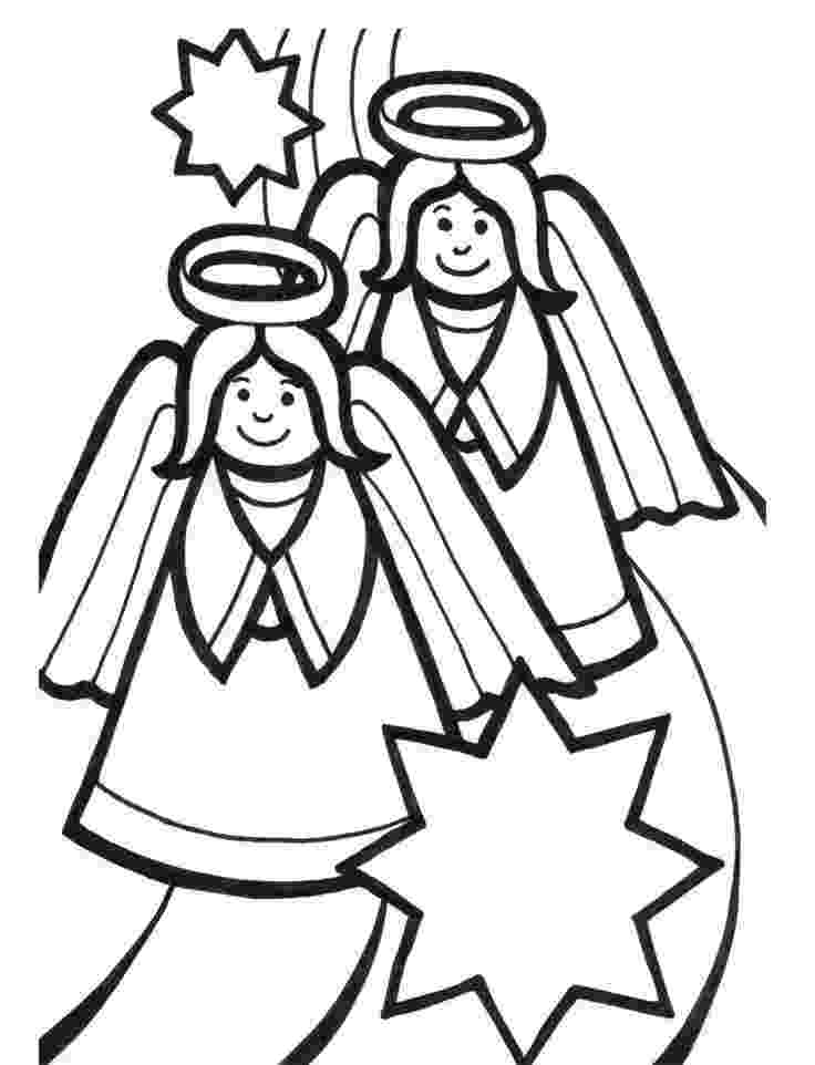 christmas angels to color angel coloring pages download christmas color angels to