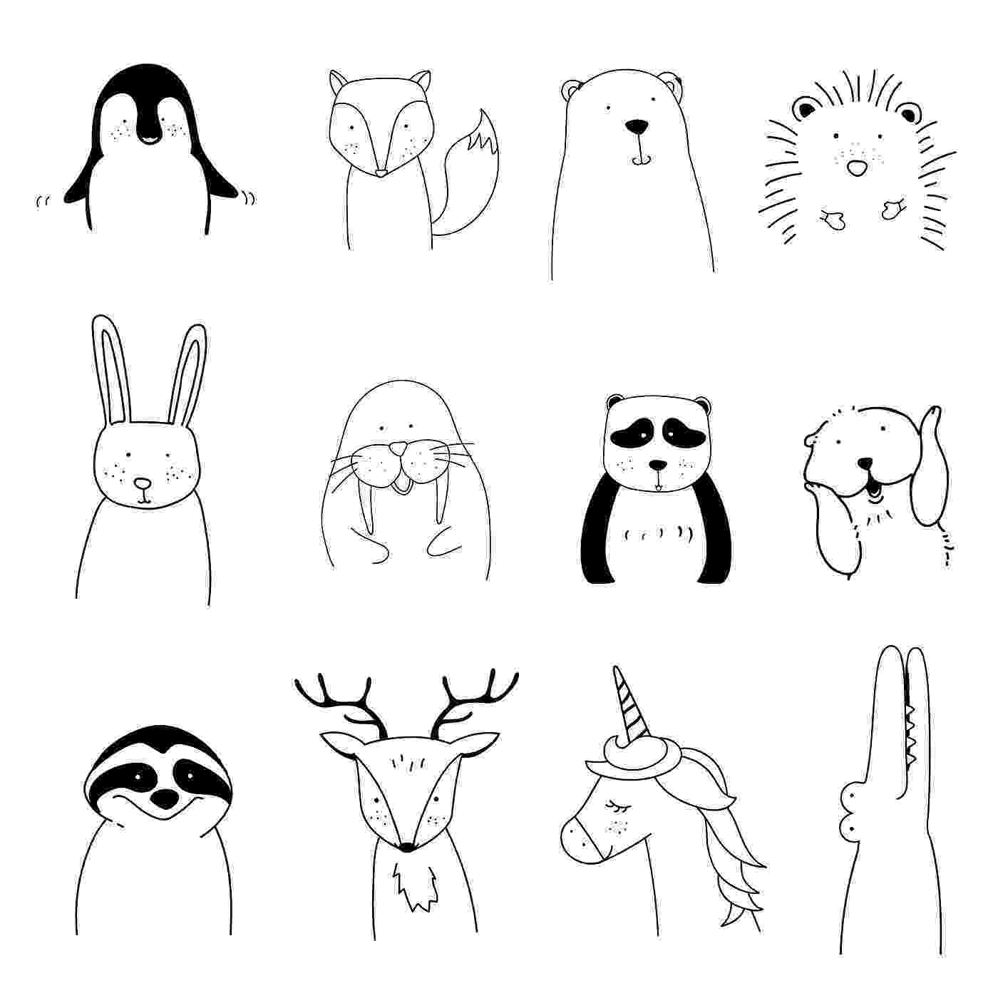 christmas animals free printable coloring pictures hand embroidery animals christmas