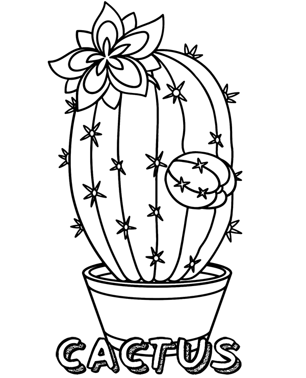 christmas cactus coloring page christmas cactus coloring pages no prep holiday craft by coloring christmas cactus page