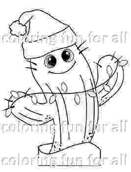 christmas cactus coloring page christmas cactus coloring pages no prep holiday craft by coloring page christmas cactus