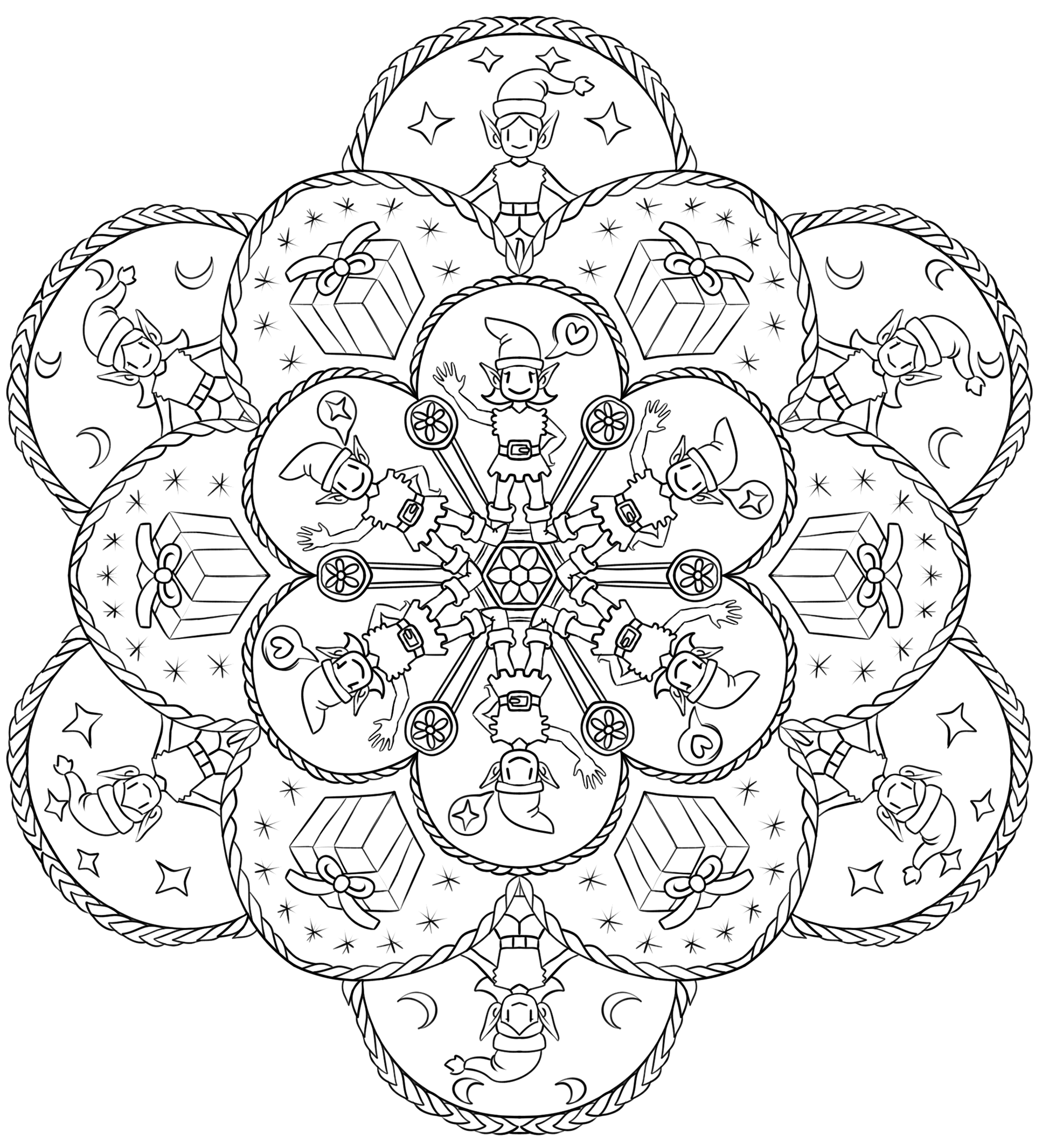 christmas mandala chrstmas mandala with a christmas tree malas adult mandala christmas