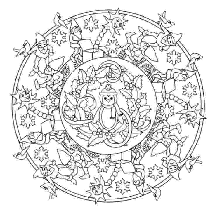 christmas mandala coloring pages 92 best images about mandala christmas winter on pinterest mandala pages christmas coloring