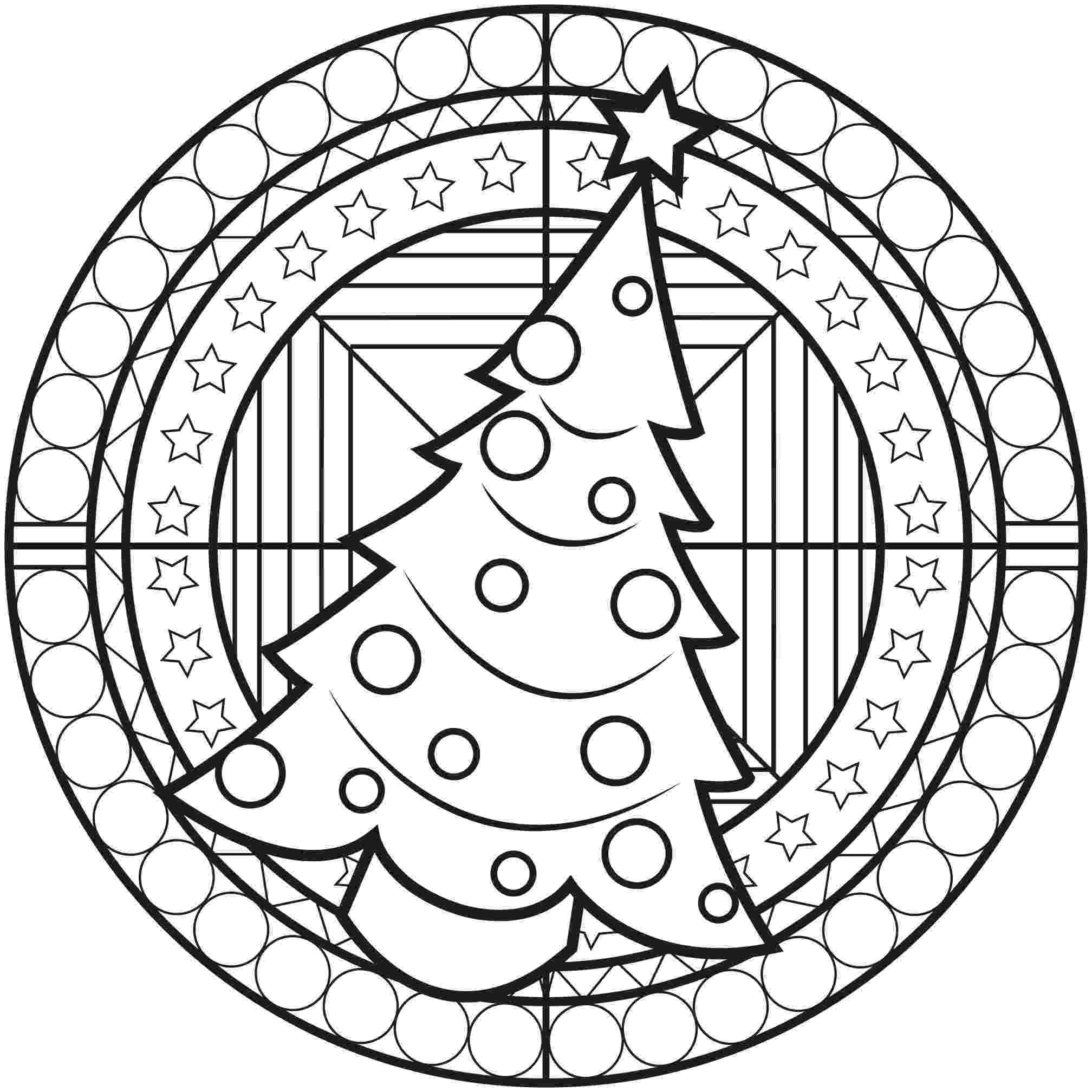 christmas mandala coloring pages chrstmas mandala with a christmas tree malas adult christmas pages mandala coloring