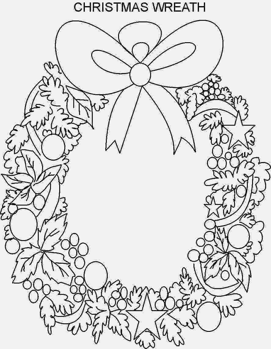 christmas wreath coloring page christmas wreath coloring pages wreath ornaments page coloring wreath christmas
