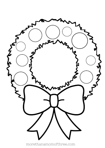 christmas wreath coloring page the holiday site christmas wreaths coloring pages christmas wreath page coloring