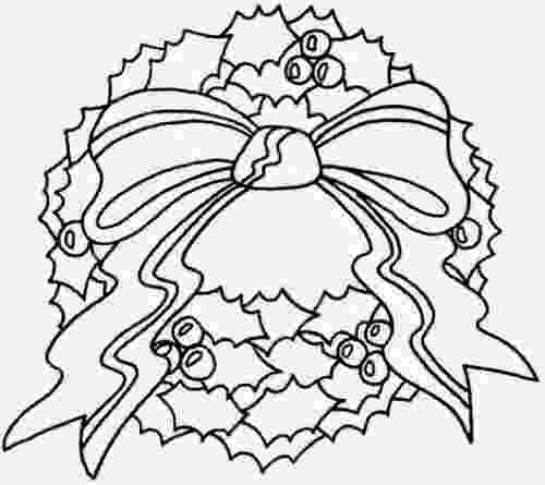 christmas wreath coloring page the holiday site christmas wreaths coloring pages page coloring christmas wreath