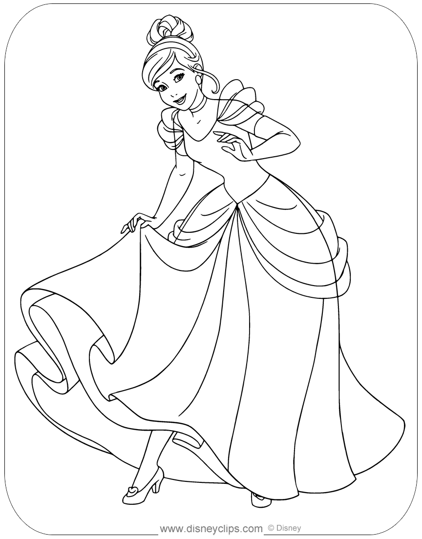 cinderella a4 colouring pages cinderella coloring pages to download and print for free colouring a4 cinderella pages