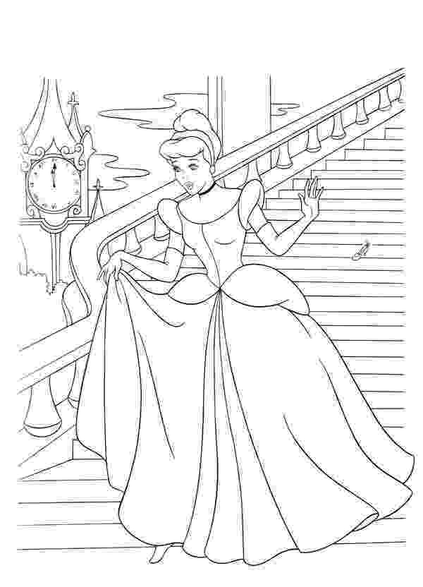 cinderella a4 colouring pages cinderella flees from prince charming castle in cinderella cinderella colouring a4 pages