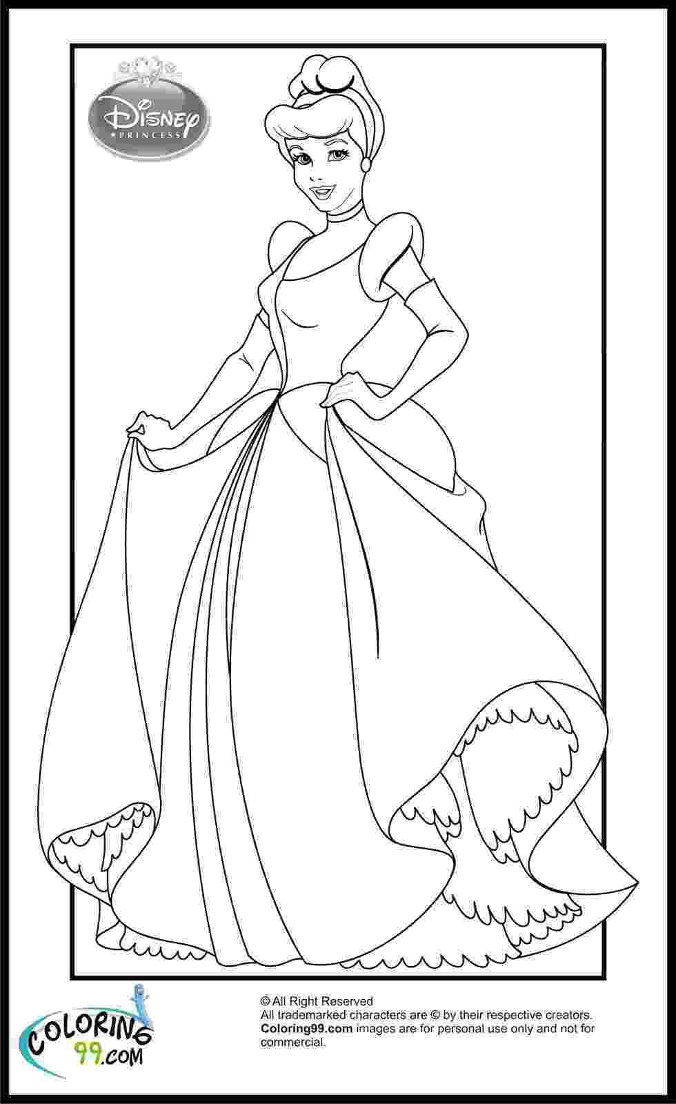 cinderella color sheets disney princess cinderella coloring pages minister coloring color sheets cinderella
