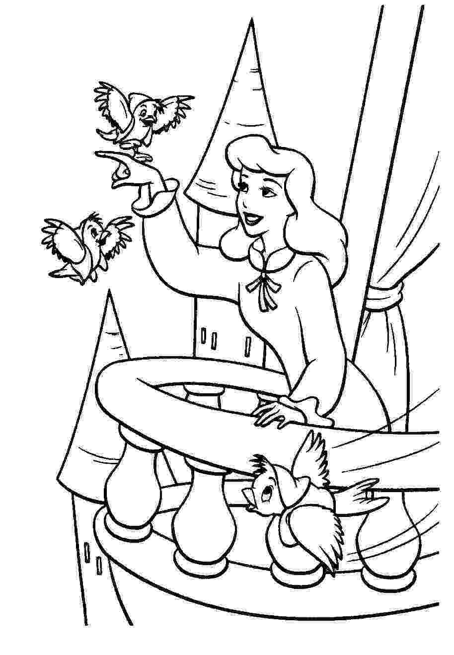 cinderella color sheets free printable cinderella coloring pages for kids cool2bkids cinderella sheets color