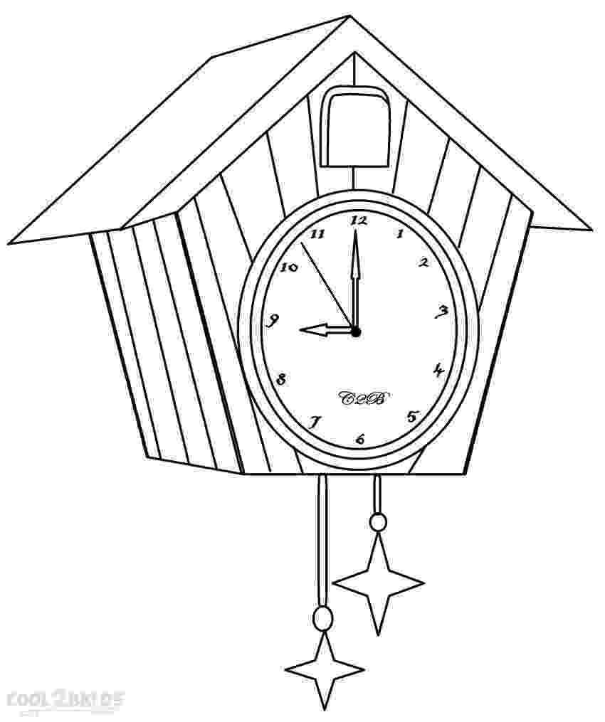clock coloring page create your own cuckoo clock digital print coloring page page clock coloring