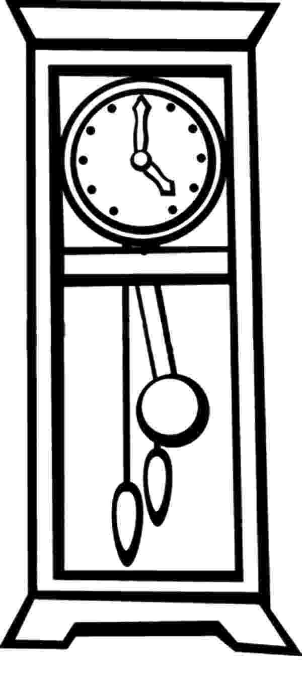 clock coloring page grandfather pendulum clock coloring pages color luna clock page coloring