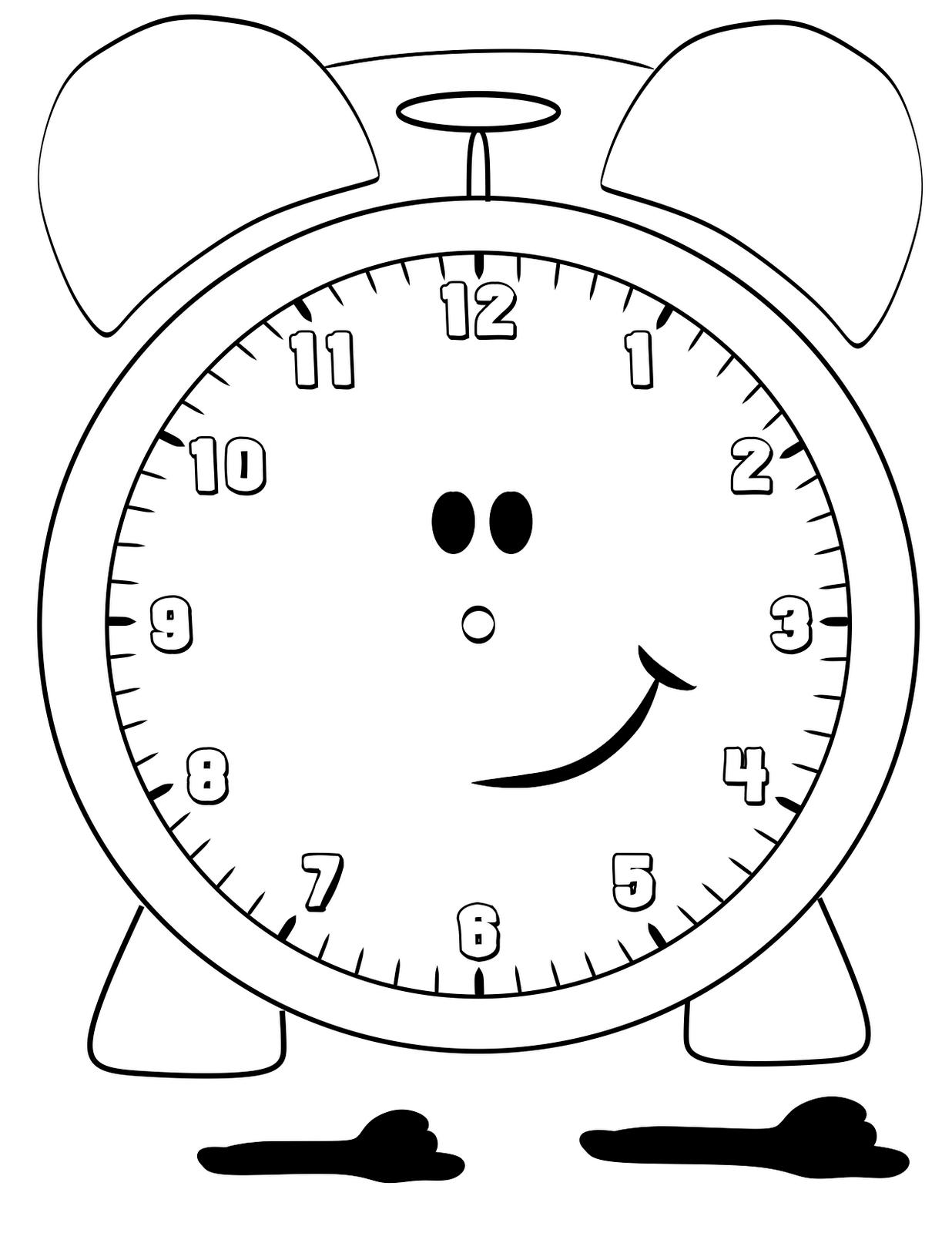 clock coloring page printable clock coloring pages for kids cool2bkids page clock coloring