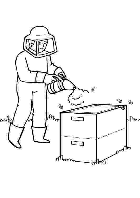 colmenas dibujos apicultor dibujo para colorear e imprimir colmenas dibujos