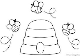 colmenas dibujos bee coloring pages for kids preschool and kindergarten colmenas dibujos