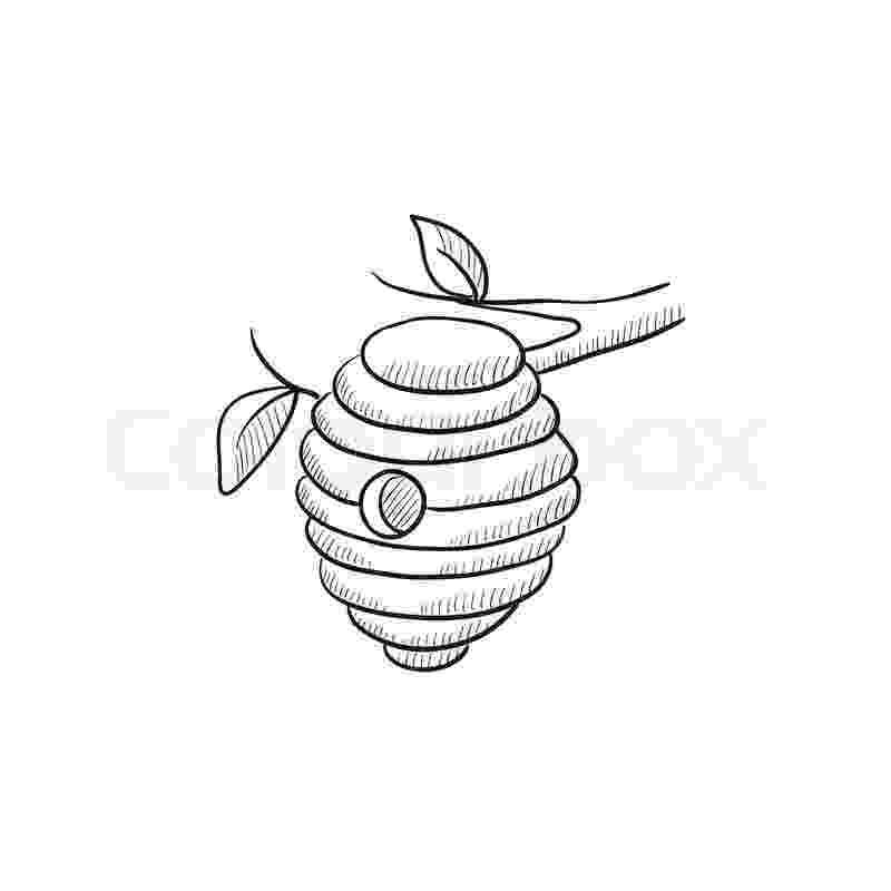 colmenas dibujos bee hive sketch icon for web mobile stock vector dibujos colmenas
