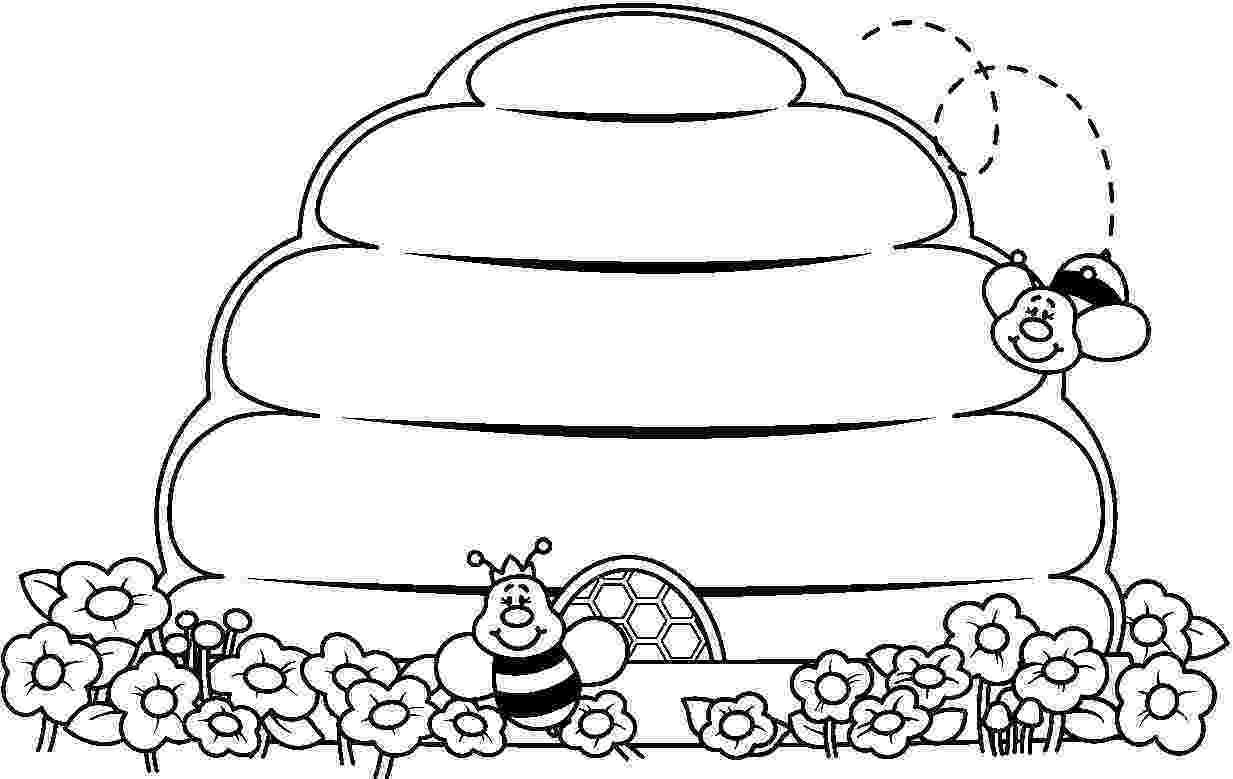 colmenas dibujos primavera para colorear animales en primavera escuela dibujos colmenas