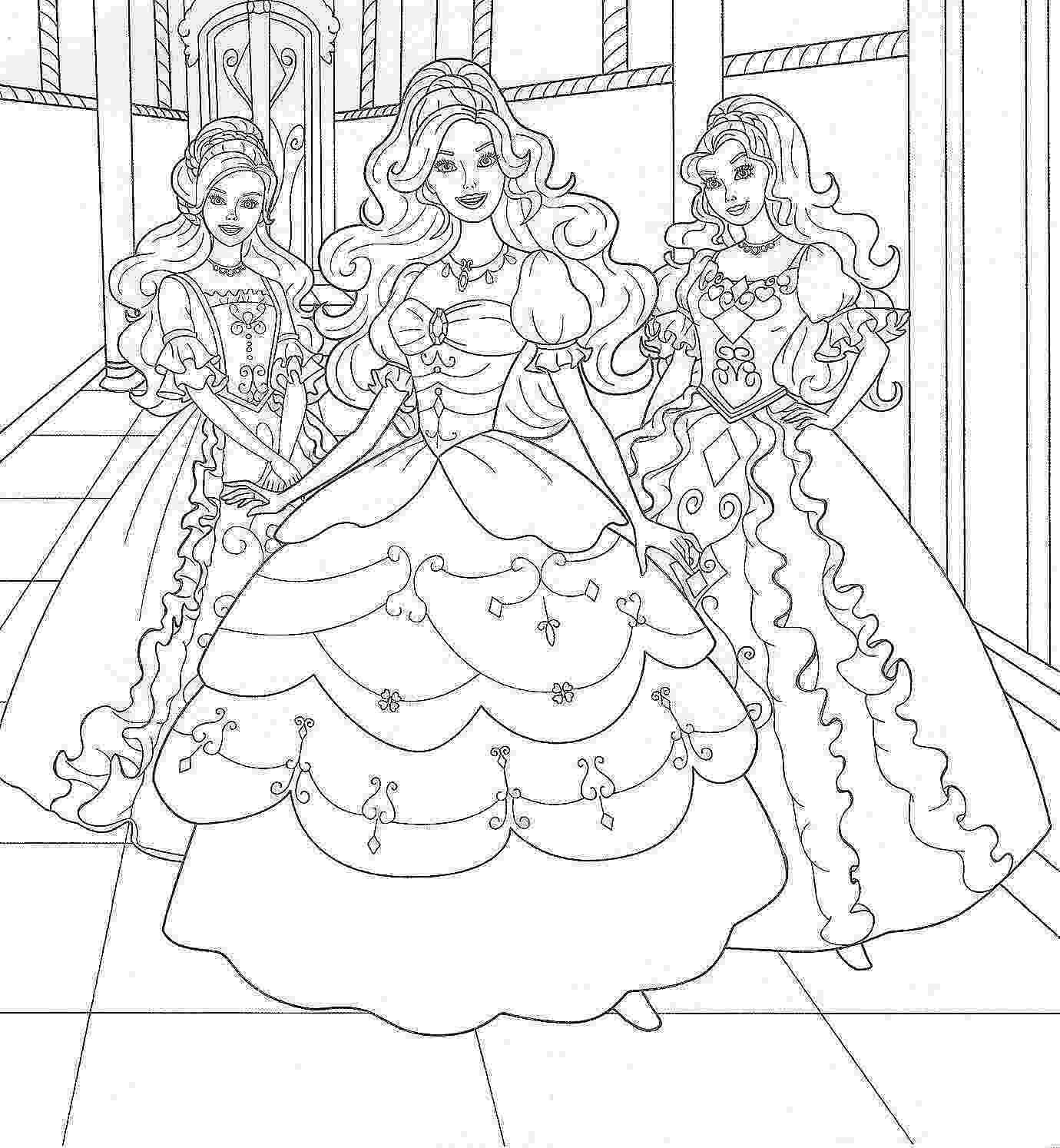 color barbie barbie coloring pages to print for free mermaid princess barbie color