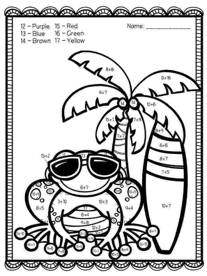color by number printables color by number addition best coloring pages for kids printables color number by