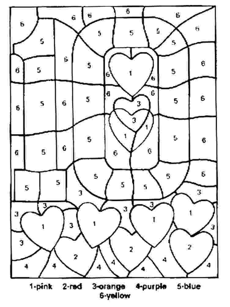 color by number printables free printable color by number coloring pages best number color printables by