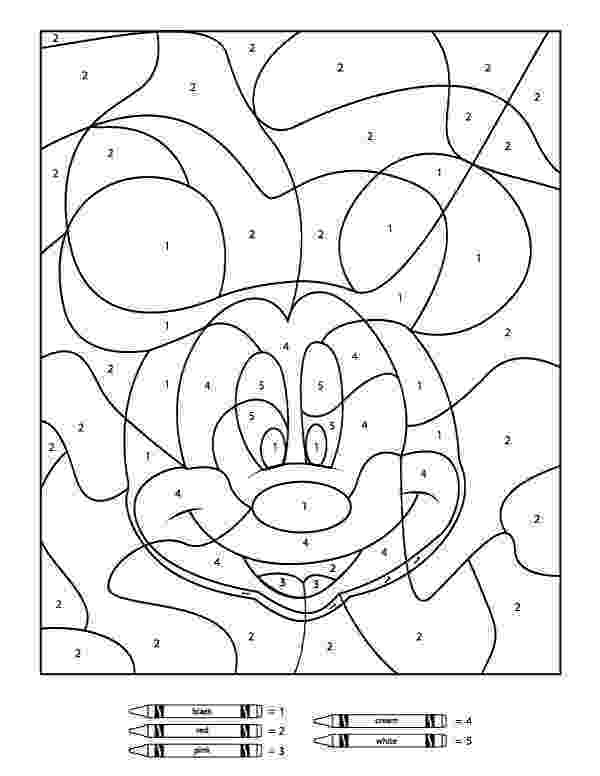 color by number printables your children will love these free disney color by number color printables number by