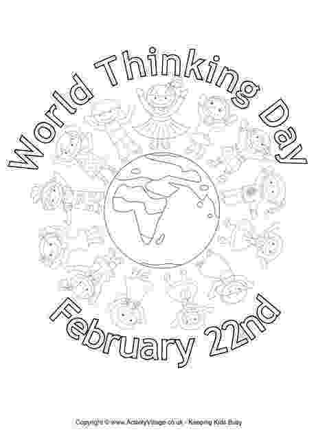color day ideas world thinking day colouring page thinking day day color ideas